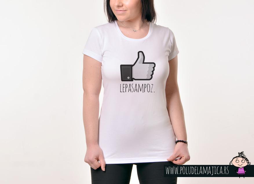 Zenska majica sa natpisom Lepa Sam Poz - poludelamajica