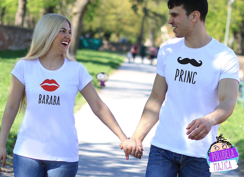 Majice za parove Baraba i Princ Poludelamajica Srbija