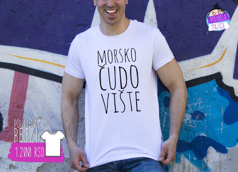 Poludela Majica Muska sa natpisom Morsko Cudoviste