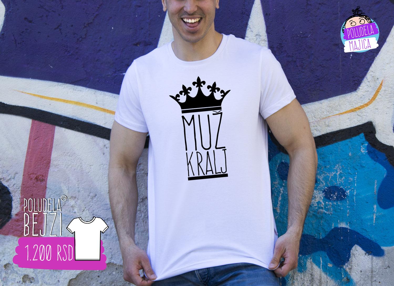 Poludela majica sa natpisom Muz Kralj