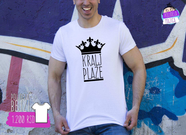 Poludela majica sa stampom Kralj Plaze