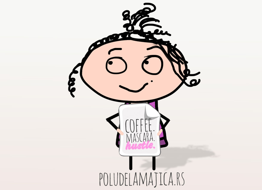 Majice sa smesnim natpisima po zelji - Coffee Mascara Hustle - poludelamajica