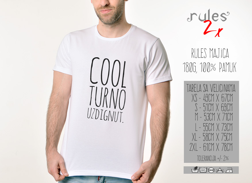 Muska Rules Majica sa natpisom - Coolturno Uzdignut - Tabela velicina