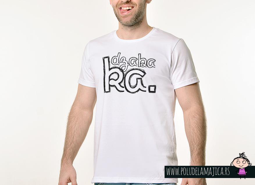 Muska Rules Majica sa natpisom - Dzabaka - poludelamajica