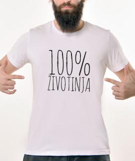Muska Rules majica sa natpisom 100% zivotinja - Proizvod