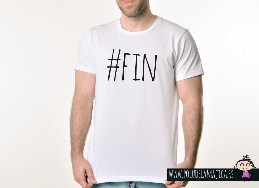 Muska Rules majica sa natpisom Fin - poludelamajica