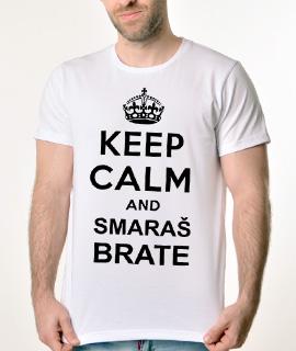 Muska Rules majica sa natpisom Keep Calm And Smaras Brata -  Proizvod