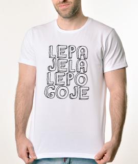 Muska Rules majica sa natpisom Lepa Jela Lepo Goje -  Proizvod