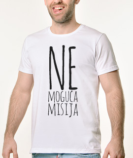 Muska Rules majica sa natpisom - Nemoguca misija - Proizvod