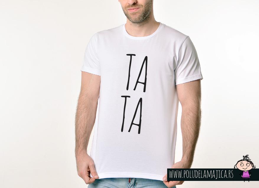 Muska Rules majica sa natpisom Tata - poludelamajica