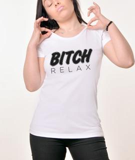 Zenska Rules majica sa natpisom Bitch Relax - Proizvod