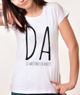 Zenska Rules majica sa natpisom Da li smes ono sto hoces - Proizvod