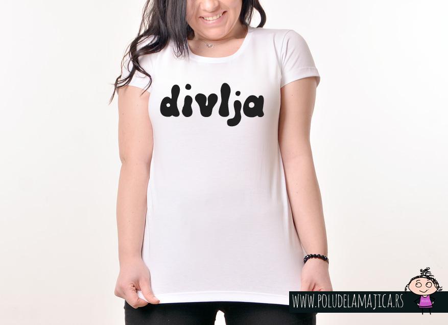 Zenska Rules majica sa natpisom Divlja - poludelamajica