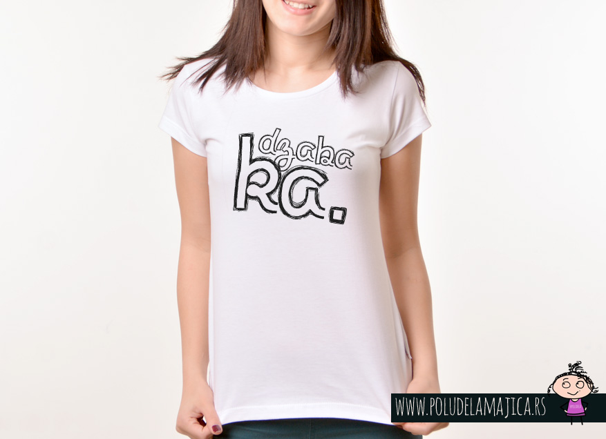 Zenska Rules majica sa natpisom Dzabaka - poludelamajica