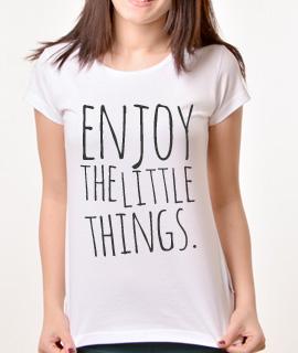 Zenska Rules majica sa natpisom Enjoy Little Things - Proizvod