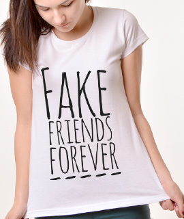 Zenska Rules majica sa natpisom Fake Friends Forver - Proizvod