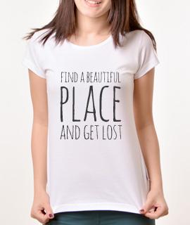 Zenska Rules majica sa natpisom Find A Beautiful Place - Proizvod