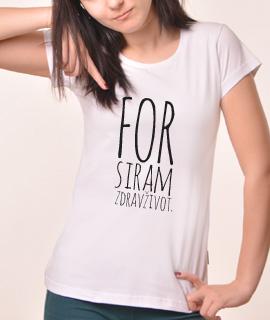 Zenska Rules majica sa natpisom Forsiram Zdrav Zivot - Proizvod