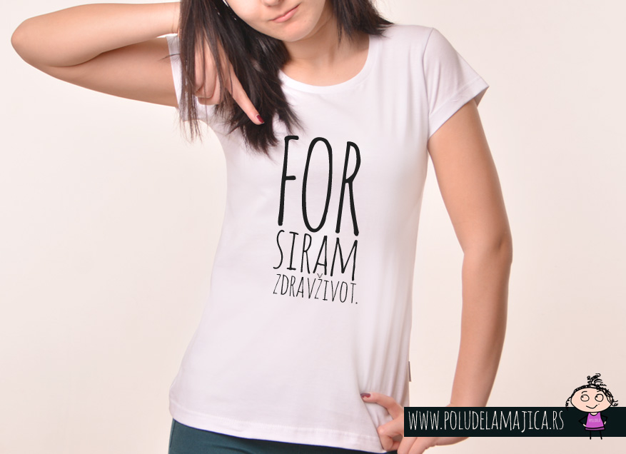 Zenska Rules majica sa natpisom Forsiram Zdrav Zivot - poludelamajica
