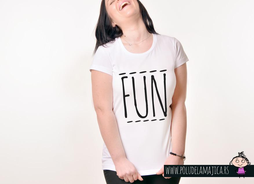 Zenska Rules majica sa natpisom Fun - poludelamajica