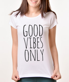 Zenska Rules majica sa natpisom Good Vibes Only - Proizvod