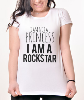 Zenska Rules majica sa natpisom I am not a princess - Proizvod