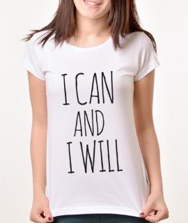 Zenska Rules majica sa natpisom I can and I will -  Proizvod