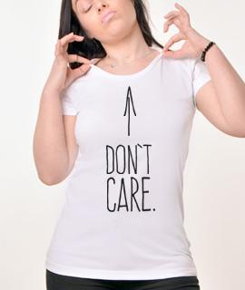 Zenska Rules majica sa natpisom I dont Care - Proizvod