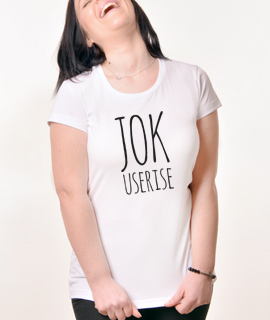 Zenska Rules majica sa natpisom Jok Useri se - Proizvod