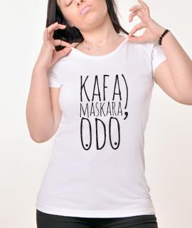Zenska Rules majica sa natpisom Kafa Maskara Odo - Proizvod
