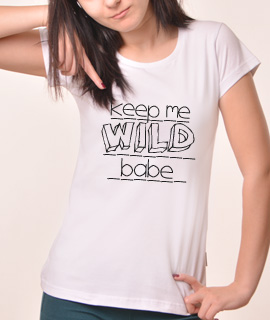 Zenska Rules majica sa natpisom Keep Me Wild - Proizvod