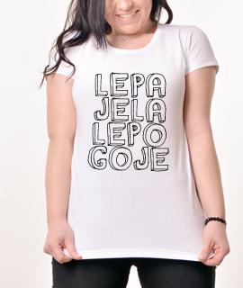 Zenska Rules majica sa natpisom Lepa Jela Lepo Goje - Proizvod