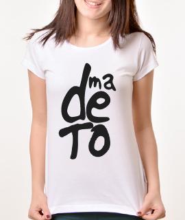 Zenska Rules majica sa natpisom Ma De To - Proizvod