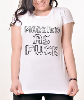 Zenska Rules majica sa natpisom Married As Fuck - Proizvod