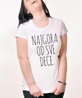 Zenska Rules majica sa natpisom Nagora Od Sve Dece - Proizvod