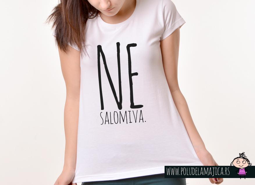 Zenska Rules majica sa natpisom Nesalomiva - poludelamajica