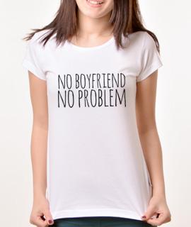 Zenska Rules majica sa natpisom No Boyfriend No Problem - Proizvod