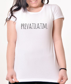 Zenska Rules majica sa natpisom Prevazilazim - Proizvod