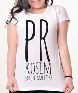 Zenska Rules majica sa natpisom Prkosim Zakonima Fizike - Proizvod
