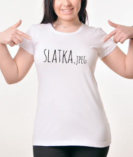 Zenska Rules majica sa natpisom Slatka JPG - Proizvod
