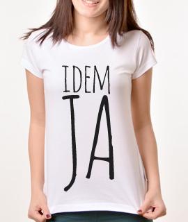 Zenska Rules majica sa natpisom idem ja - Proizvod