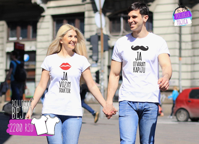 Poludele Majice za parove Ja Vozim Traktor