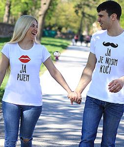 Majice za parove Ja Pijem Ja Je Nosim Kuci