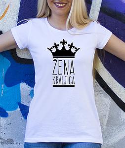 Poludela Majica Zena Kraljica