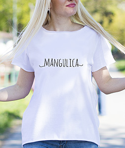Poludela Majica sa stampom teksta Mangulica