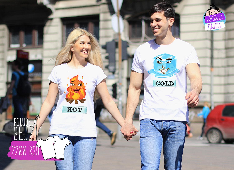 Poludela Majica za parove Hot N Cold